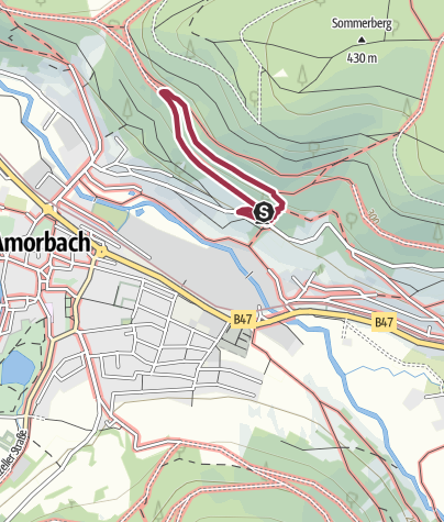 Karte / Rundwege des Naturparks Nr. 3 Panorama-Weg