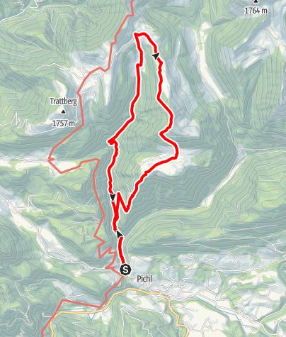 Karte / Alpbichl Rundwander-Weg (16 Punkte)