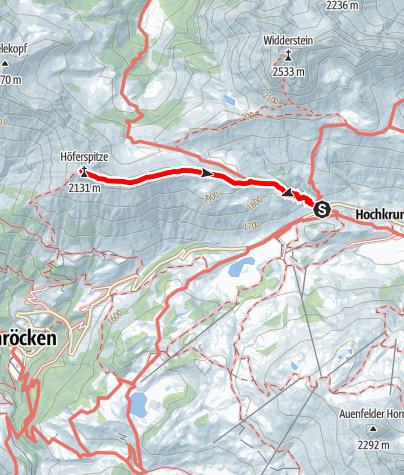 Karte / Höferspitze (2.131 m)
