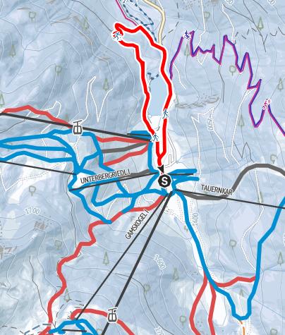 Karte / Zauchensee-Runde