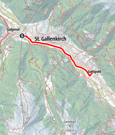 Karte / Barrierefrei: Im inneren Montafon – Der Bahnweg St. Gallenkirch-Gortipohl