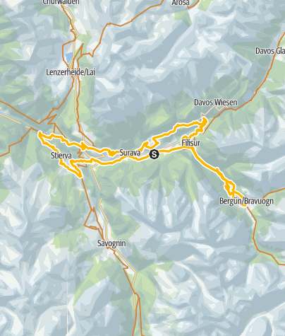 Karte / 242 Albulatour