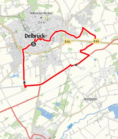 Karte / GeoTour Paderborner Land: Delbrück