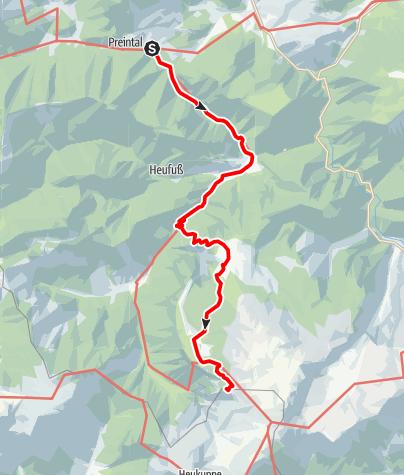 Mapa / WAB - Regionale Route N: Preintal - Habsburghaus