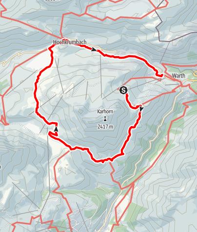 Karte / Karhornrundweg über Hochtannbergpass