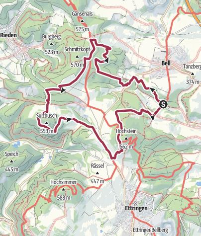 Karte / Traumpfad Vier-Berge-Tour