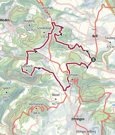 Map / Vier-Berge-Tour