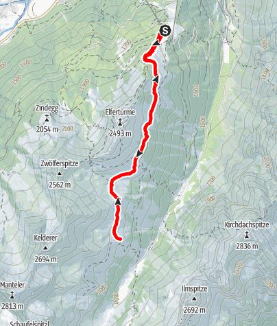 Mapa / Panorama-Höhenlauf