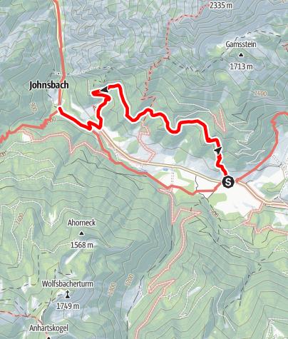 Karte / Johnsbacher Sonnseitenweg