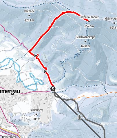 Cartina / Skitour - Großer Aufacker