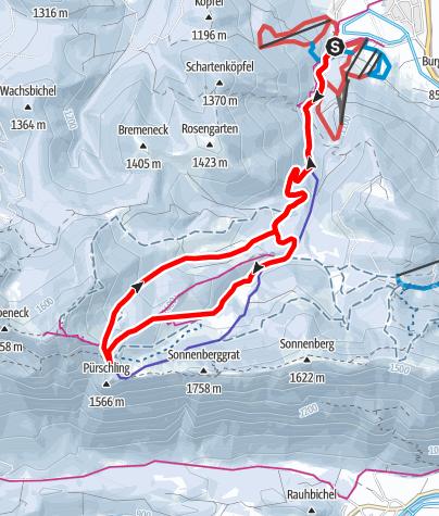 Karte / Skitour - Pürschlinghaus