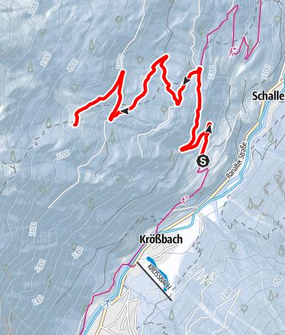 Карта / Rodelbahn Milderaun Alm