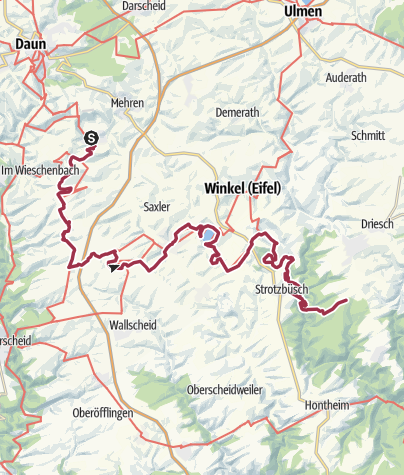 Karte / Vulkaneifel-Pfad: Maare-Pfad (2-Tages-Tour) (Schalkenmehren - Gillenfeld - Strotzbüsch)
