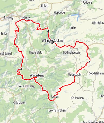 Karte / Bike Arena Sauerland - Bildchen & Medebacher Bucht