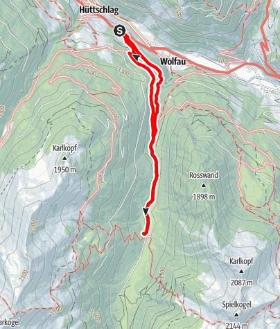 Karte / Hüttschlag: Hub-Grundalm