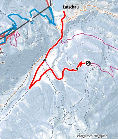 Map / Von Grabs über die Volspora nach Latschau