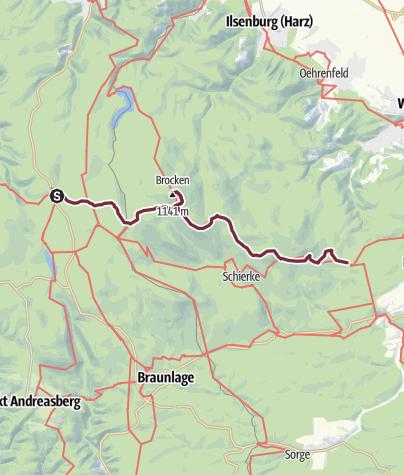 Map / Harzer-Hexen-Stieg - 3. Etappe - von Torfhaus nach Drei Annen Hohne