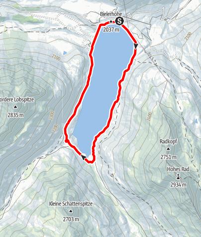 Map / Um den Silvretta-Stausee