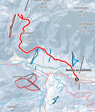 Karte / Skiweg Türlwand