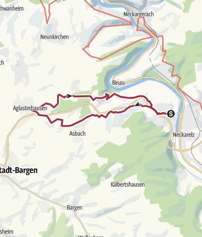 Karte / Vom Heldenweg zum Neckartal