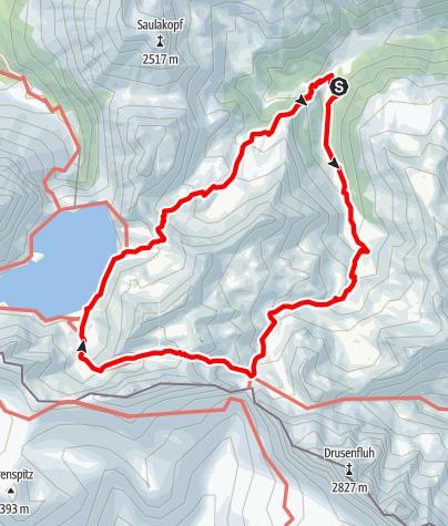 Karte / Panoramawanderung Rätikon - vom Rellstal zum Lünersee