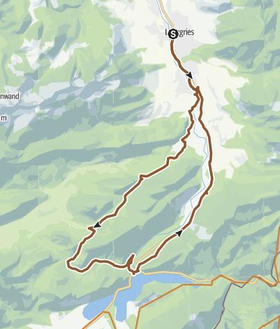Karte / Rundtour: Von Lenggries über Leger zum Schronbach und Sylvensteinsee wieder nach Lenggries