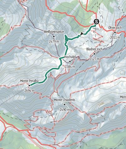 Map / Hochweißsteinhaus - Monte Peralba