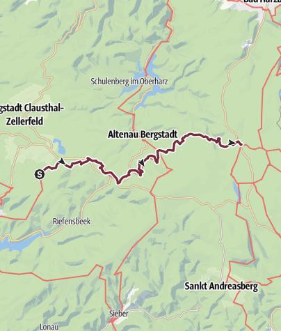 Karte / Harzer-Hexen-Stieg - 2. Etappe - von Buntenbock nach Torfhaus