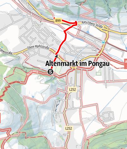 Karte / Verbindungsweg zum Erholungsraum Schwemmberg