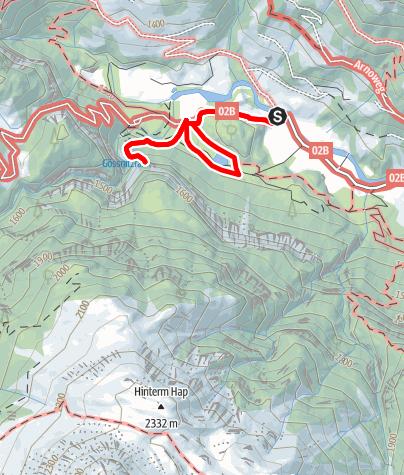 Karte / Naturlehrweg Natura Mystica (Gössnitzfall-Kachlmoor)
