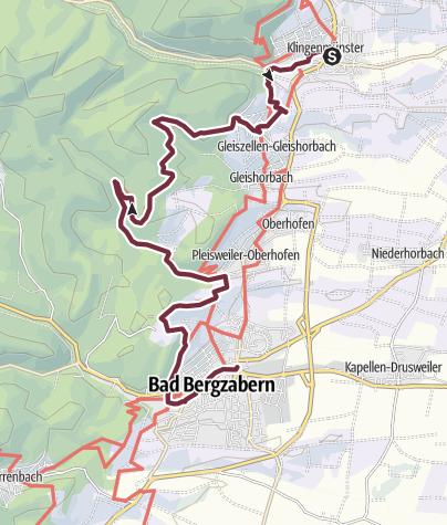 Carte / Pfälzer Weinsteig étape 10: Klingenmünster - Bad Bergzabern