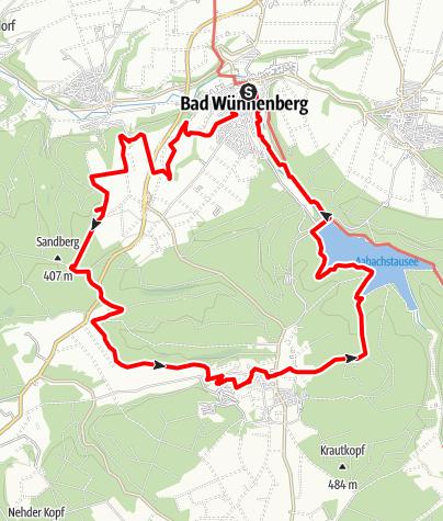 Kaart / Fünf-Bäche-Weg