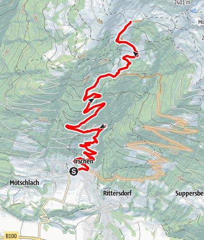 Karte / Tour zur Leppneralm/Ochsenhütte