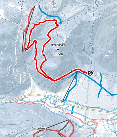Karte / Schneeschuhtour Almenrunde