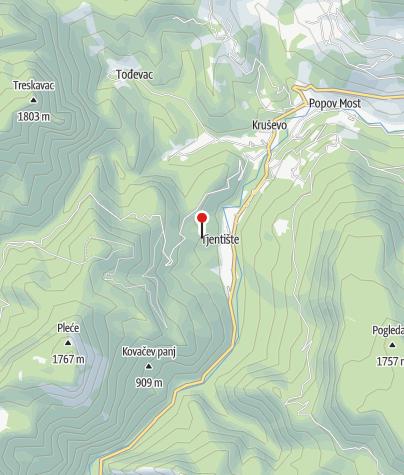 Map / Sutjeska National Park