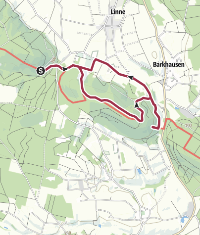 Karte / Der DiVa-Walk: Durch das Wiehengebirge zu den Saurierfährten (Teil 2)