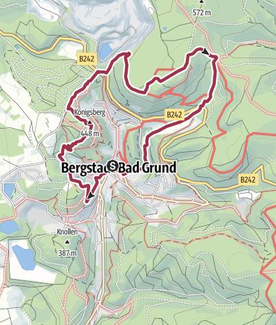 Karte / BaudenSteig Rundweg Nr. 1: Bad Grund