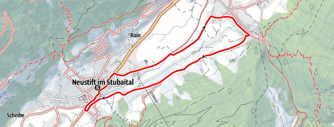 Mapa / Neustift - Wiesenweg Neder - Obergasse - Neustift Dorf