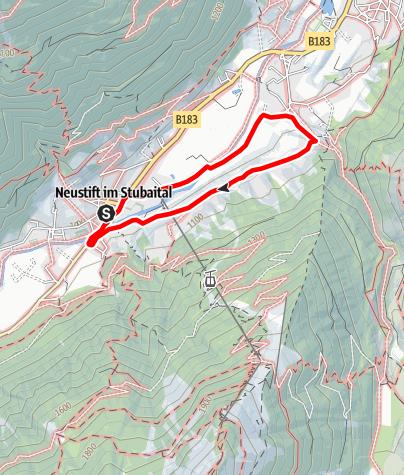 Map / Neustift - Wiesenweg Neder - Obergasse - Neustift Dorf