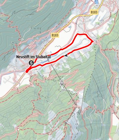 Karte / Neustift - Wiesenweg Neder - Obergasse - Neustift Dorf