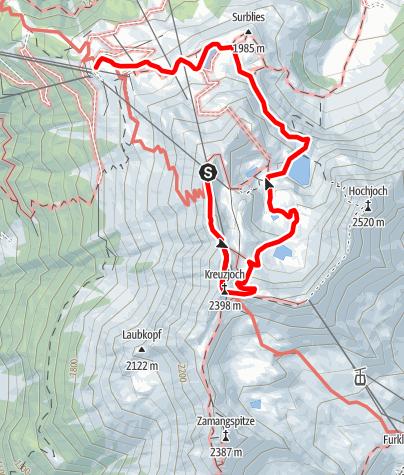 Karte / 3-Seen-Panoramarundwanderung Hochjoch
