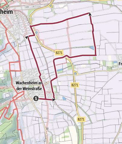 Karte / Wachenheim - Römertour