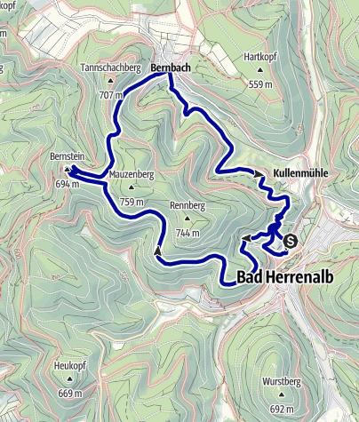 Karte / Von Bad Herrenalb zum Bernstein
