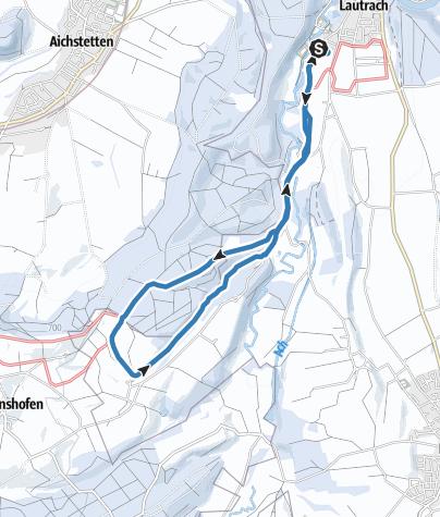 Karte / Große Lautracher Runde kurze Variante über Dilpersried
