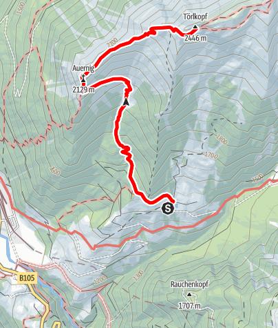 Karte / Auernig - Törlkopf