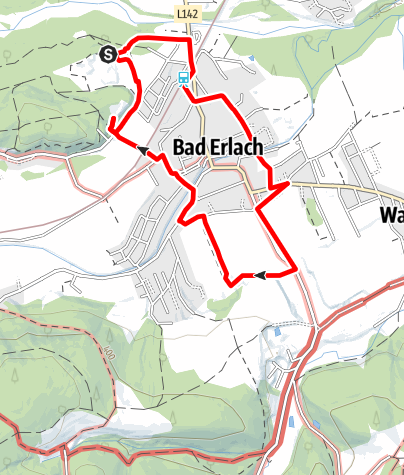 Karte / Marterlweg - Bad Erlach (BE 1)