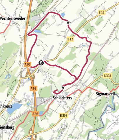 Karte / Streuobstwanderweg - Bienen, Most und Brennerei