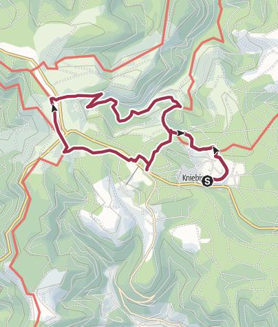 Karte / Kniebis: Über die Alexanderschanze zum Ellbachsee