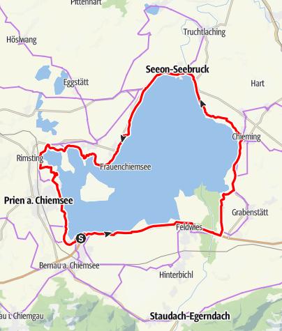 Karte / Chiemseerundweg Genussradtour