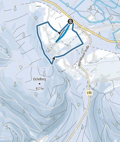 Karte / Auf Schneeschuhen wandern - kleine Tour